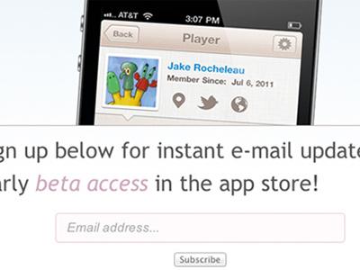 Ballin' iPhone App Website Template iphone template app design mailchimp signup beta ios jquery email tutorial code freebie download