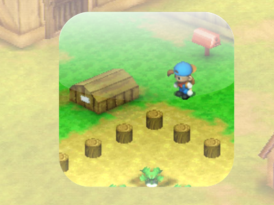 Harvest Moon iOS Icon II ios iphone app icon mobile apple harvest moon btn nature farming playstation game grass