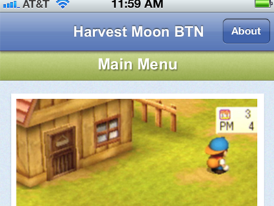 Harvest moon btn ios app