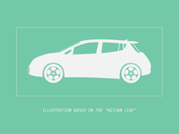 Illustration: based on the Nissan LEAF