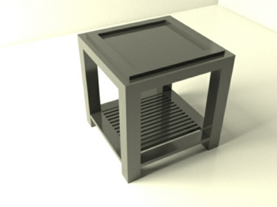 Table rendering 3d model v-ray autodesk 3ds max