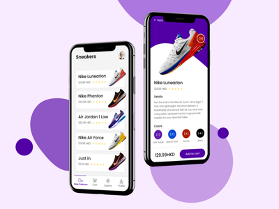 Nike Store App nike ui designinspiration designer design creative appdesign