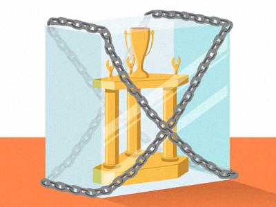 Trophy illustration trophy glass editorial