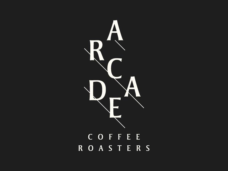 Arcade Reject coffee logo branding