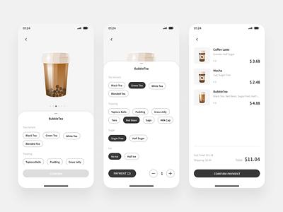DailyUI043 app uiux black and white mobile design minimalist ui