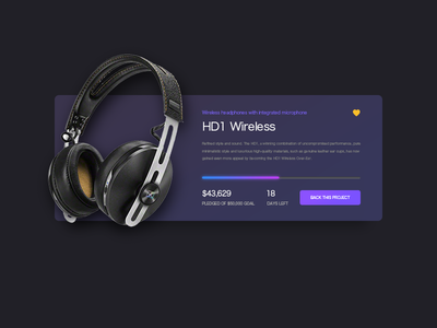 Dailyui032 crowdfunding campaign