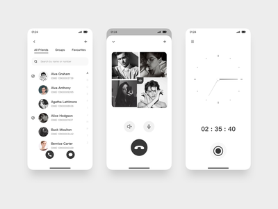 JiAN 05 black and white mobile minimalist uiux design ui