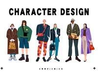 Character design illustrations