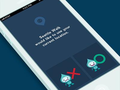 Location Access Dialog Box ux design ui design ios iphone mobile design flat design
