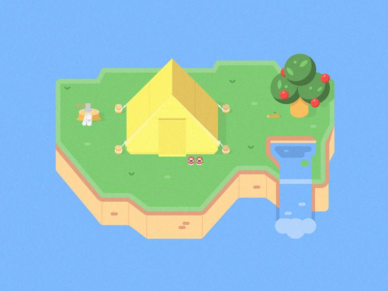 Animal Crossing nintendo game animal crossing cartoon cute vector 2d flat illustration