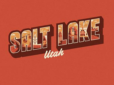 Salt Lake City, UT mountains utah ut salt lake city logo design 2d flat illustration