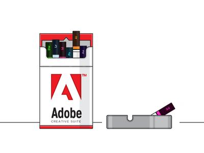 My Addiction vector 2d flat design addiction cigar smoke illustrator adobe ash tray cigarette adobe creative suite