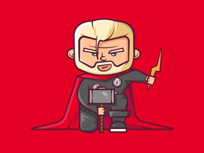 Thor Odinson super heroes super hero lightning bolts avenger thor cartoon character designs character design marvel vector 2d flat illustration