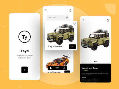 ToyaApp Exploration icon clean simple toys app ui android ios