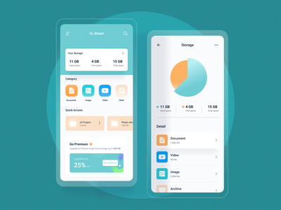 File Management Mobile App design simple clean cloud app cloud file management user experience userinterface ux ui ios app android