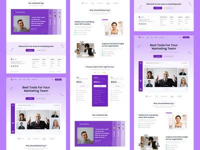 Market.Ing - Landing page virtual meer virtual meeting video call video conference customer say cutomer pricing purple web marketing marketing website marketing landingpage web design website design ux ui user interface user experience