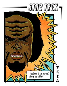 Worf Comic Illustration