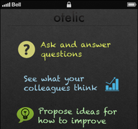 Otelic first-time user screen
