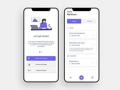 Mobile App UI Design to do list mobile app design uiux uc design mobile app ui design mobile app ui user inteface