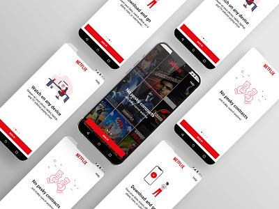 Netflix Mobile App Onboarding (Redesign) onboarding scrren netflix user experience ui uiux uidesign