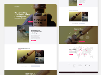 DOCTOR LAB LANDING PAGE user experience ui uidesign website designui website designui landing page design webui website design