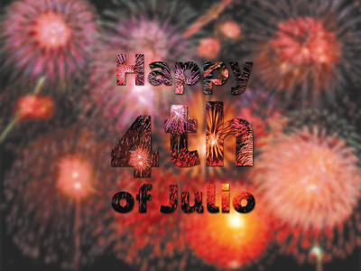 4th of Julio blur 4th of july spanglish