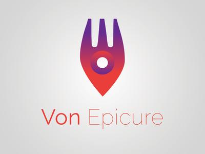 Von Epicure pointer fork map logo review food app