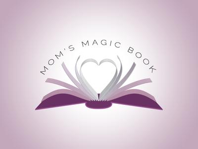 Mom's Magic Book mother heart book logo