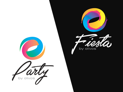 Party/Fiesta art color gradient logo restaurant fiesta party