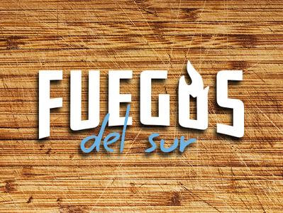 Fuegos del Sur branding vector argentina food restaurant logo fire restaurant