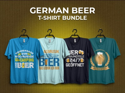 Germany Beer T-shirt Design Bundle