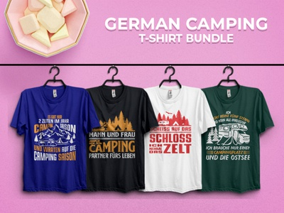 Camping T-shirt Design in Germany Language