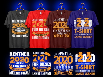 New Year 2020 Germany T-shirt Design Bundle.