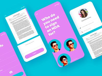 Jonas Brothers - NDA app design appux appui uiux uidesign ui nda app jonas brothers app design