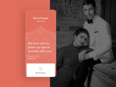 Nick Jonas wedding app