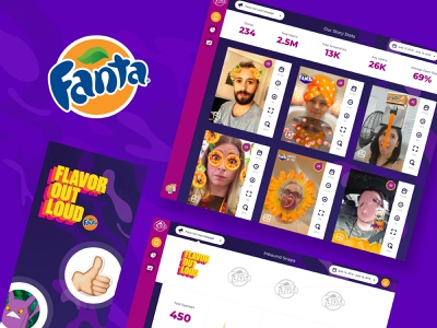 Snapchat campaign software ui ux design ui software design app design uidesign cocacola fanta snapchat