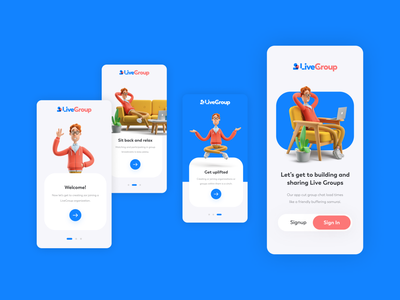 LiveGroup Product Design ux ui appdesign app design productdesign product design