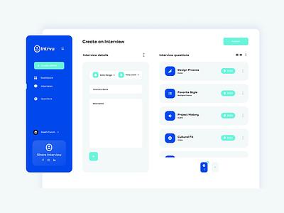 Intrvu Product Design ux ui saas dektop app design product design