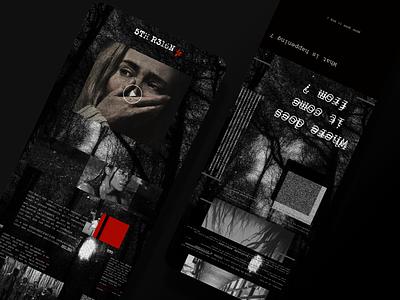5TH R316N - EXPERIMENTAL LANDING PAGE landing page web design horror tv show ux branding ui design