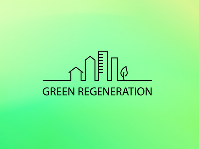 GREEN REGENERATION identity icon logo branding illustration