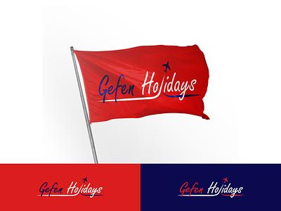 GEFEN HOLIDAYS typography design identity creative logo illustration branding