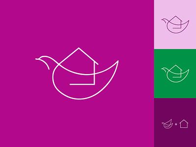 Peace at home minimal inspiration identity illustration creative flat vector icon logo branding