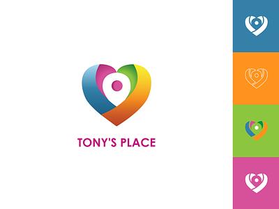 TONY'S PLACE inspiration illustration minimal vector icon creative logo branding identity