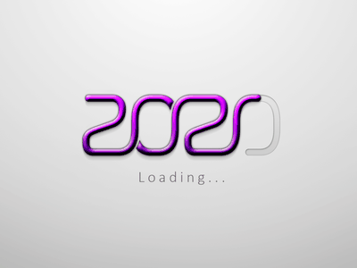 2020 is loading... app minimal branding loading bar loading yearend logo lettering happy new year new year 2019 2020 typography design creative