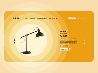 E-Commerce Shop   Daily UI 012 ui design uidesign uiux ui  ux lamp ui creative design website web design webdesign product design product page shop ecommerce shop ecommerce design ecommerce