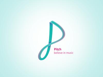 PITCH ~ believe in music dailychallenge music pitch logodlc inspiration lettering icon design minimal creative branding logodaily logo design logo dailylogodesign dailylogo dailylogochallenge