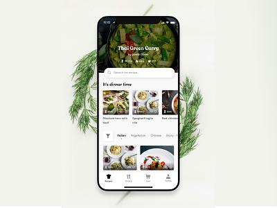 Pantry Cooking App figma interface food cooking mobile app design ux ui