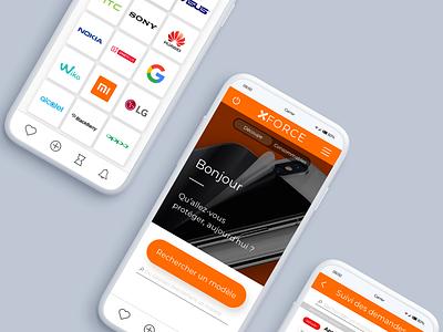 Protect what matters / App XFORCE 2020 website design branding invision sketch ux  ui