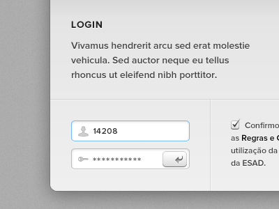 Login Screen proxima nova typography photoshop portugal web black grey blue icons gui login