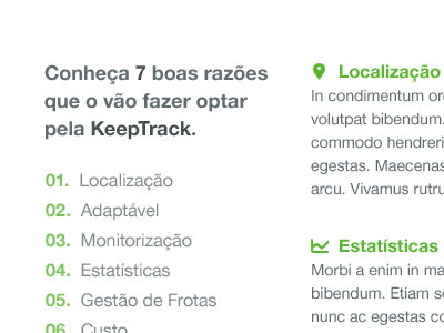 KeepTrack 03 portugal white black green keeptrack gps helvetica non-profit icons iconsweets2